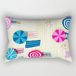 A-OK - memphis throwback neon wacka design pop art illustration beach socal vacation 1980s 80s style Rectangular Pillow