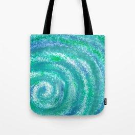 Swirling Blue Ocean Waters - Abstract Tote Bag