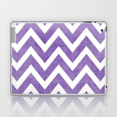 purple chevron Laptop & iPad Skin