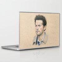 castiel Laptop & iPad Skins featuring Castiel by Stormwolf Studios