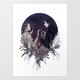 Crystallised - Reylo Art Print