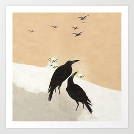 Crows from Koson Art Print