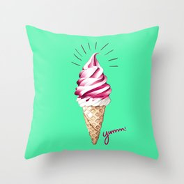 Yummy Ice Cream | Digital Art Throw Pillow