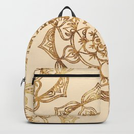 Gold & Cream Mandalas Backpack