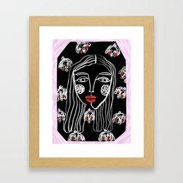 Ariele, Original Artwork decoration Acrylics Textured Media Framed Art Print