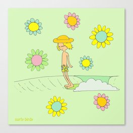 Surf Art Hang 10 Surf Dude by Surfy Birdy Canvas Print