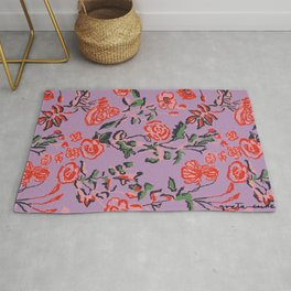 Abstract Florals Rug