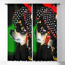 classy chihuahua dog lady vector art Blackout Curtain