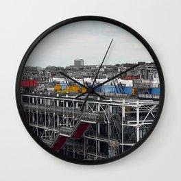 Paris Beaubourg Wall Clock