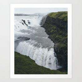 Gullfoss Iceland Art Print