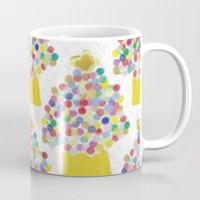 christmas tree Mugs featuring Christmas Tree by lillianhibiscus