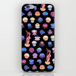 Jellyfish Day - dark iPhone Skin