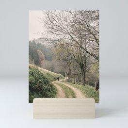 Autumn Walking Path - Schwarzwald Black Forest Hill Mini Art Print