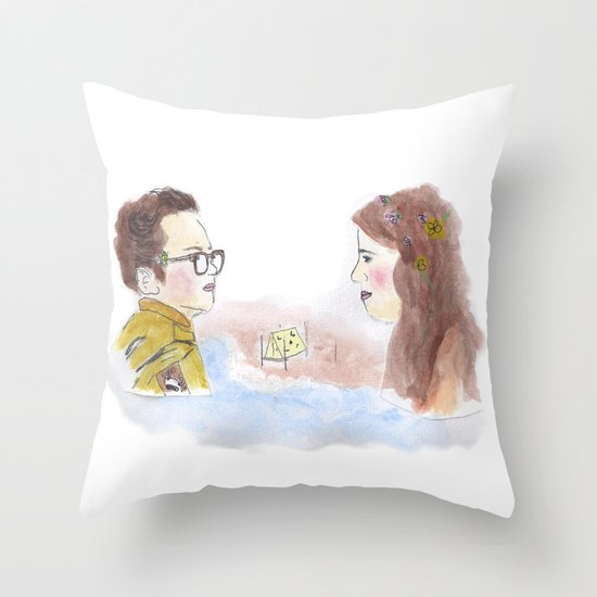 Sam and Suzy, Moonrise Kingdom Throw Pillow