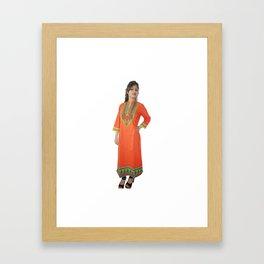 Beautiful Orange Kurtis Framed Art Print