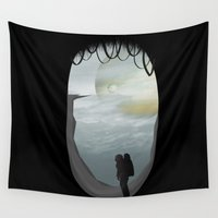 alone Wall Tapestries featuring Alone by Tony Vazquez