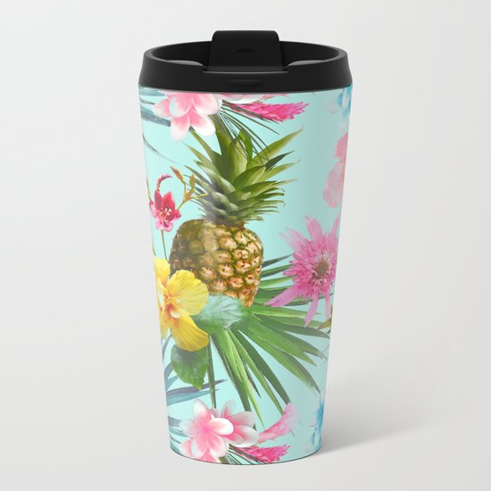 Tropical summer Metal Travel Mug