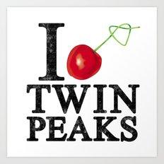 I Love Twin Peaks (Cherry Stem) Art Print
