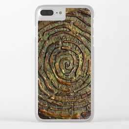 """""""Warrior"""" Textured Acrylic Abstract Painting Clear iPhone Case"""