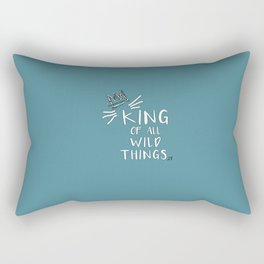 King of All Wild Things - Max Blue Rectangular Pillow
