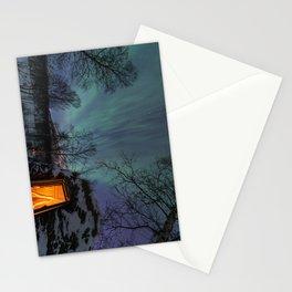 Northern Lights Over a Sami Goathi Stationery Cards