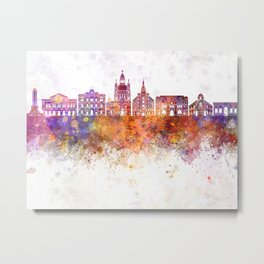 Rosario skyline in watercolor background Metal Print