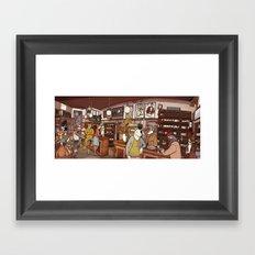 Friends at the Bar Framed Art Print