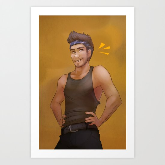 Action Man Liam Art Print