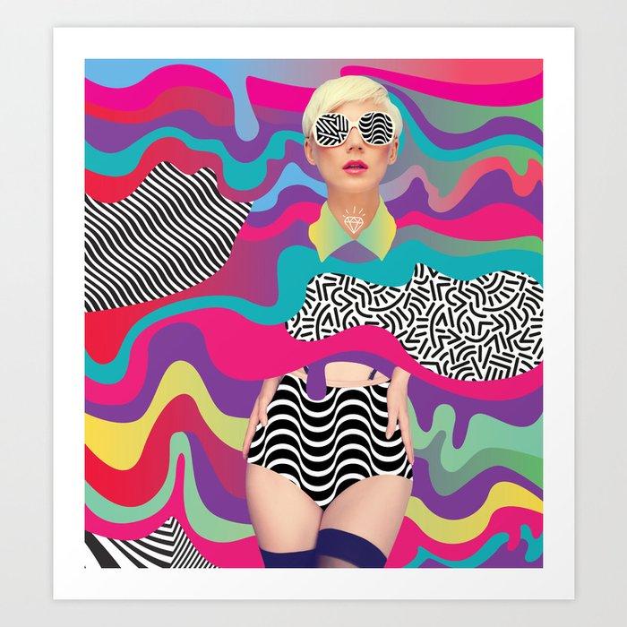 Lava Girl Art Print