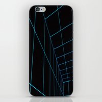 tron iPhone & iPod Skins featuring Tron Lines by Kookyphotography
