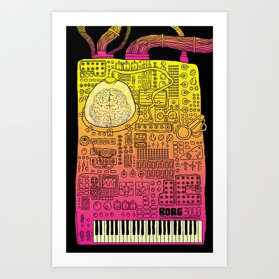 Borg 3000: ANALOG  Art Print