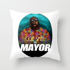 Biggie Smalls for Mayor Throw Pillow