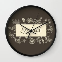 Sassenach in Sepia Wall Clock