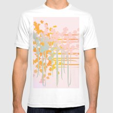 rainbow floral White Mens Fitted Tee MEDIUM