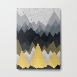 Gold in the mountains Metal Print