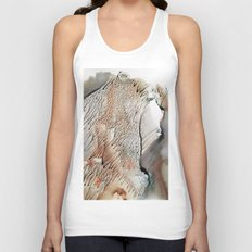 cliff of trees - watercolor monotype Unisex Tank Top
