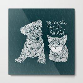 Batcat Metal Print