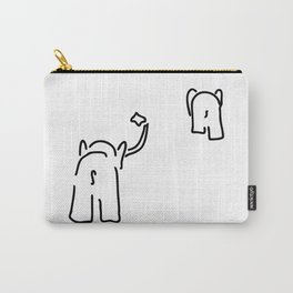 pair of elephants say goodbye Carry-All Pouch