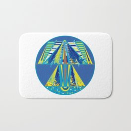 Across the Universe in Paper Planes Bath Mat