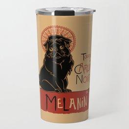Le Carlin Noir (The Black Pug) Travel Mug