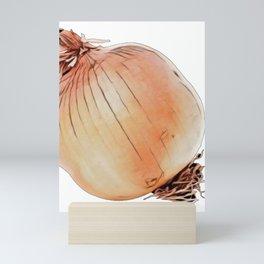 Onion bulb common cultivated species genus Allium shallot Mini Art Print