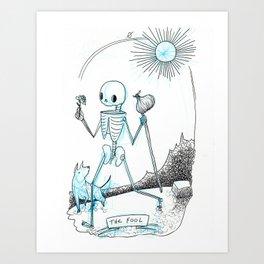 The Fool Skeleton Tarot Art Print