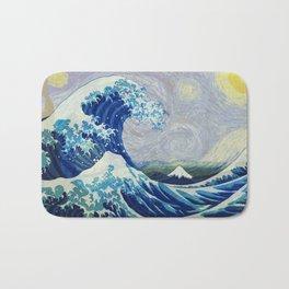 The Starry Night Wave Bath Mat