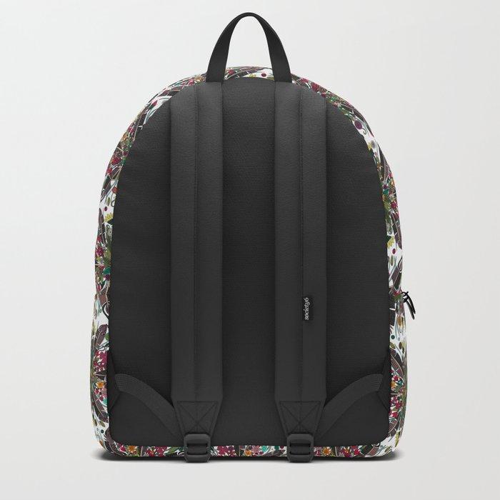 bohemian posy white Backpack