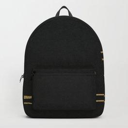Black Velvet with Gold Lines Backpack
