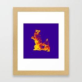 Ours Republique purple Framed Art Print
