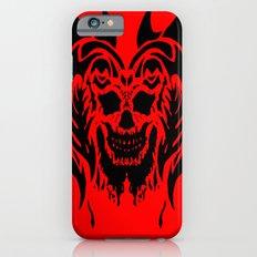 Black Drip Skull Slim Case iPhone 6s
