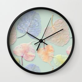 3d background, foliage, seamless Wall Clock