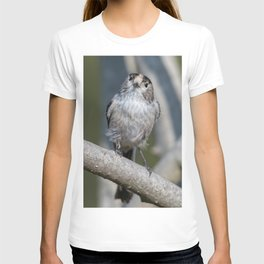 long tailed tit bird on tree T-shirt