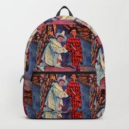 "Paul Cezanne ""Pierrot and Harlequin (Mardi gras)"", 1888 Backpack"